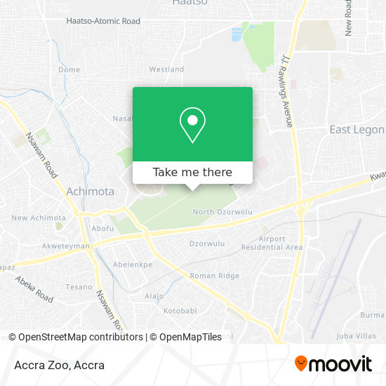 Accra Zoo map