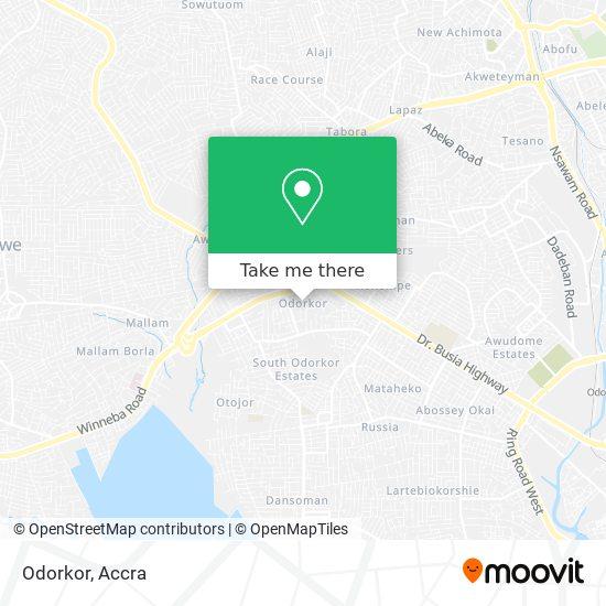 Odorkor map