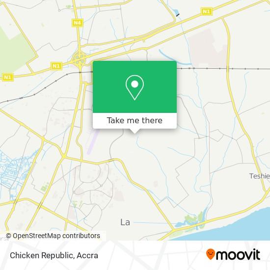 Chicken Republic map