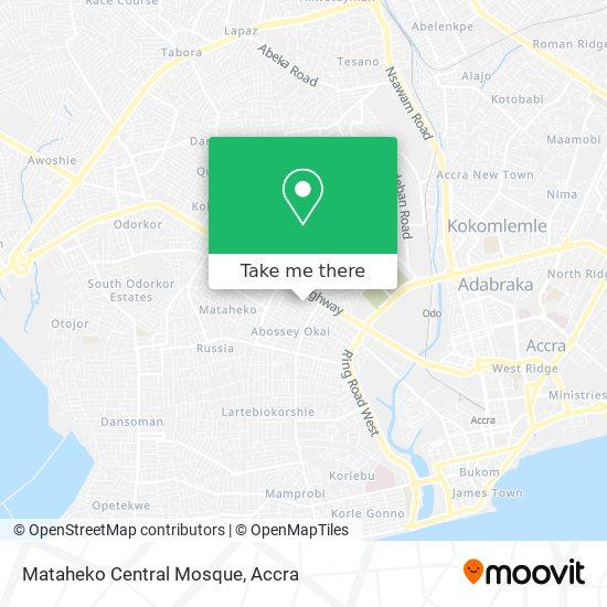 Mataheko Central Mosque map