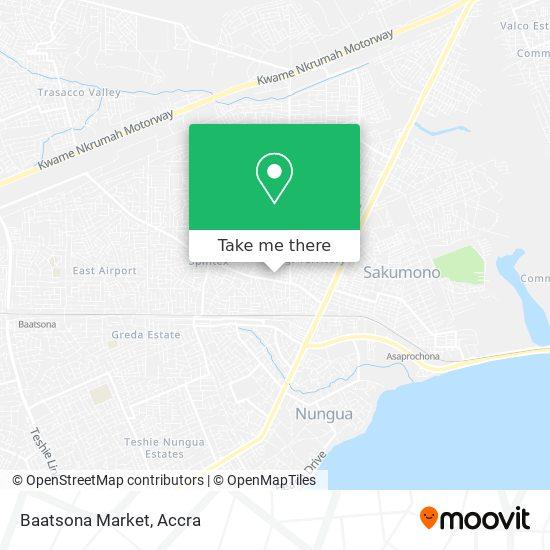Baatsona Market map