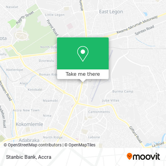 Stanbic Bank map