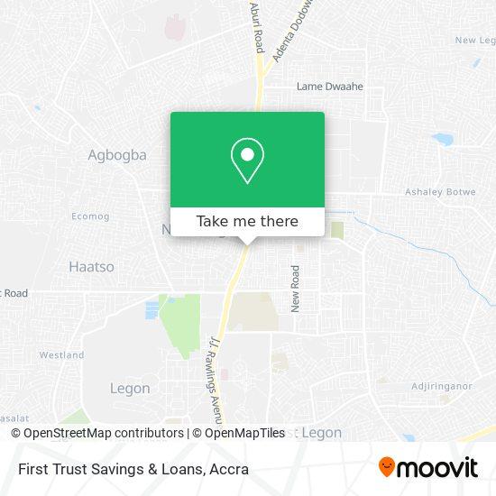 First Trust Savings & Loans map