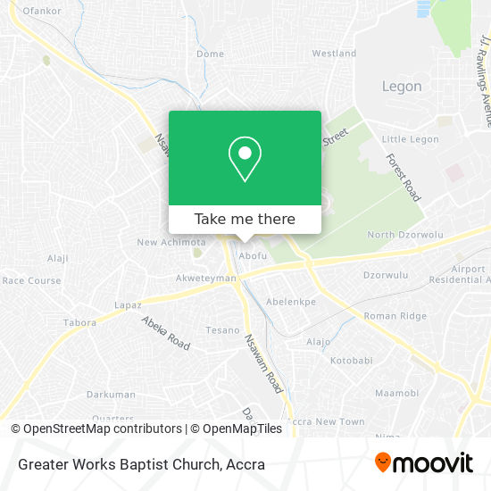 Greater Works Baptist Church map