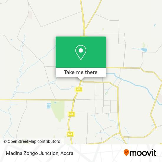 Madina Zongo Junction map