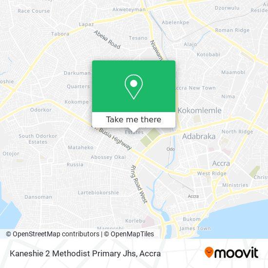 Kaneshie 2 Methodist Primary Jhs map