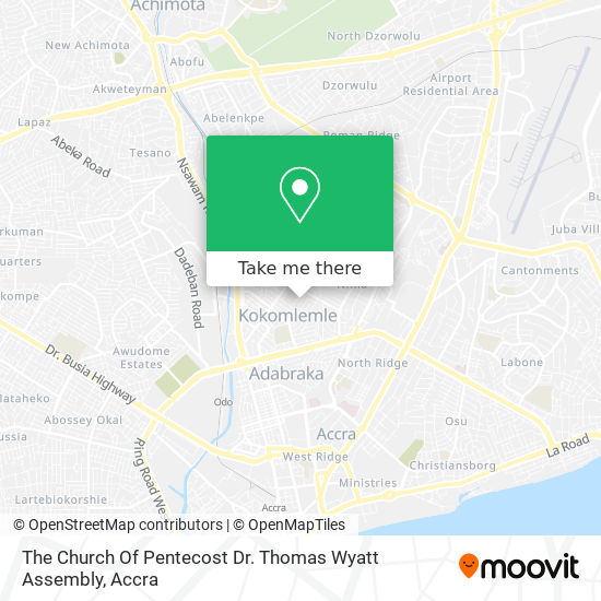 The Church Of Pentecost Dr. Thomas Wyatt Assembly map