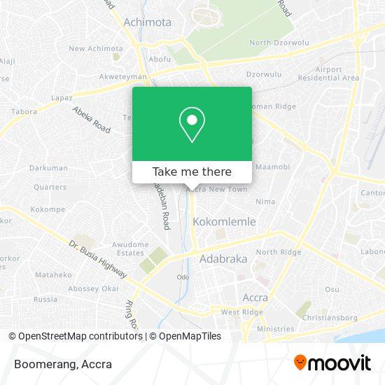 Boomerang map