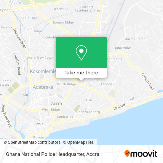 Ghana National Police Headquarter map