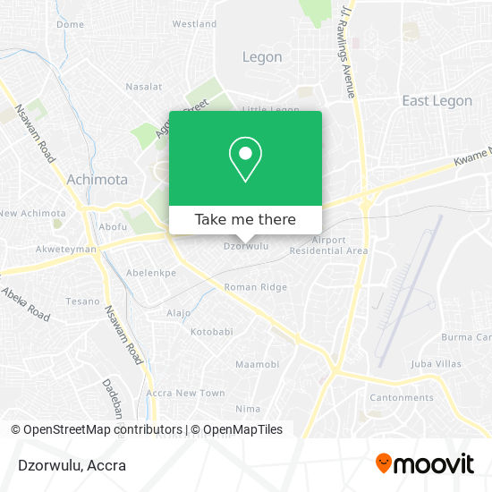 Dzorwulu map