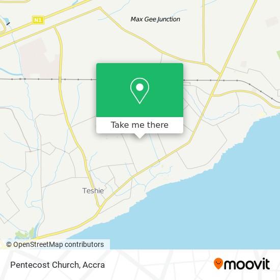 Pentecost Church map