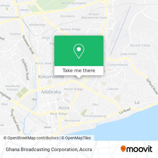Ghana Broadcasting Corporation map