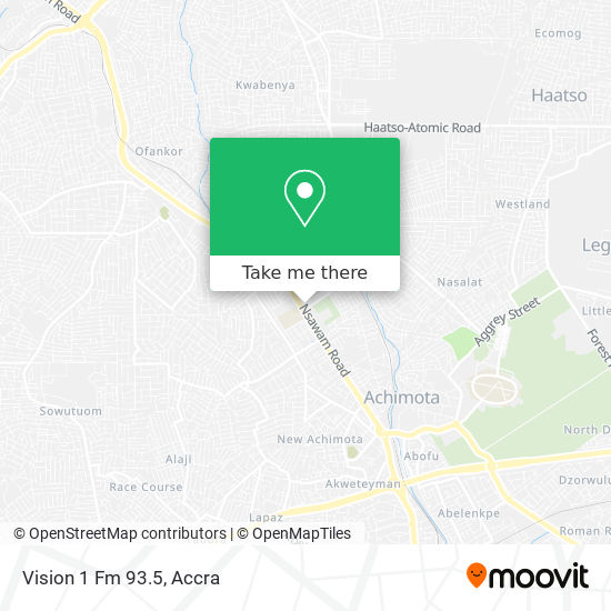 Vision 1 Fm 93.5 map