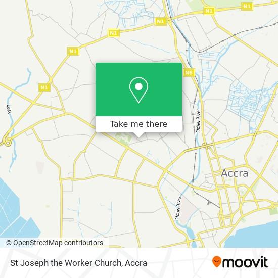 St Joseph The Worker Church map