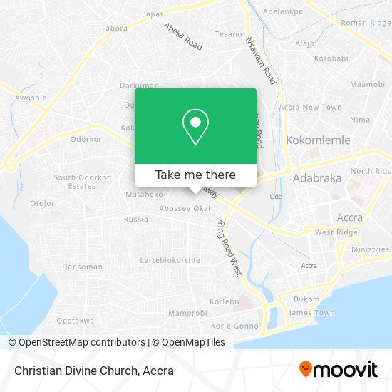 Christian Divine Church map