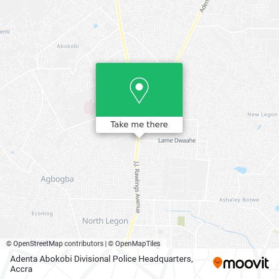 Adenta Abokobi Divisional Police Headquarters map