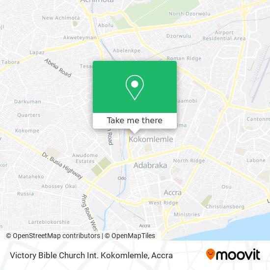Victory Bible Church Int. Kokomlemle map