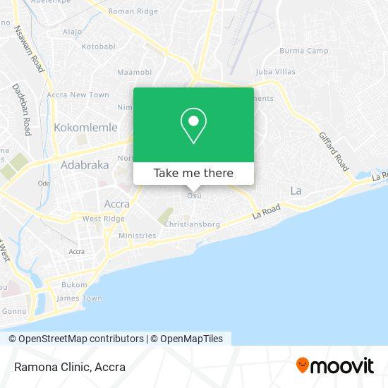 Ramona Clinic map