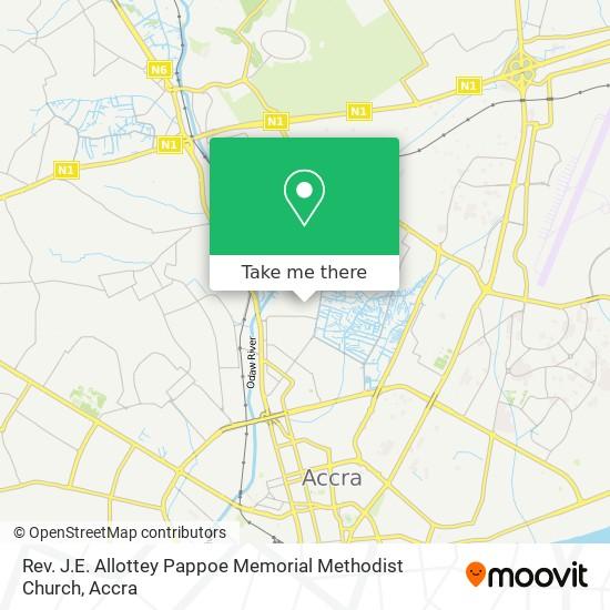 Rev. J.E. Allottey Pappoe Memorial Methodist Church map