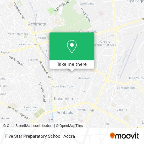 Five Star Preparatory School map