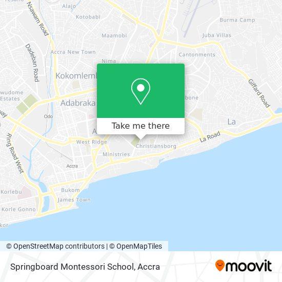 Springboard Montessori School map