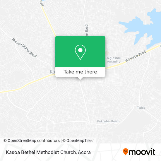 Kasoa Bethel Methodist Church map