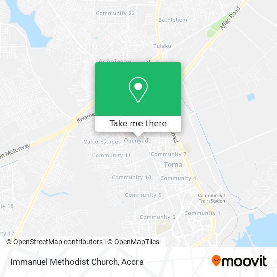 Immanuel Methodist Church map