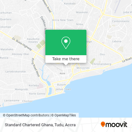 Standard Chartered Ghana, Tudu map