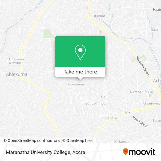 Maranatha University College map