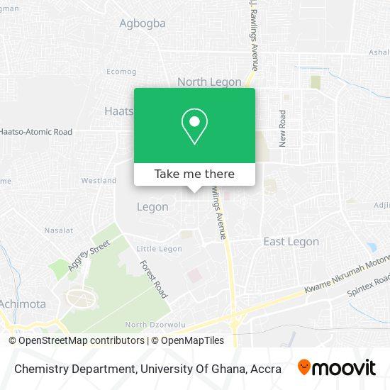 Chemistry Department, University Of Ghana map