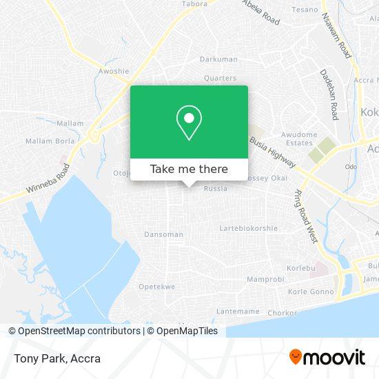 Tony Park map