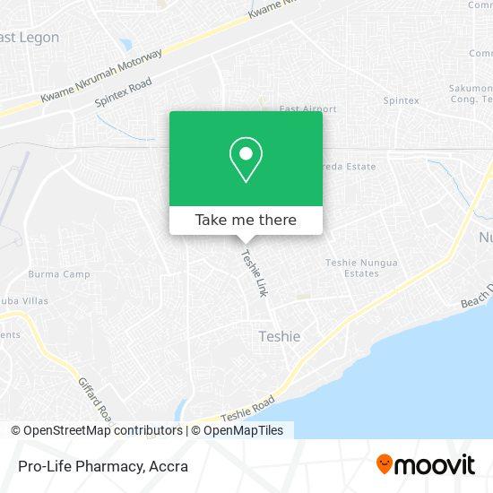 Pro-Life Pharmacy map