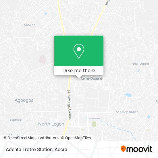 Adenta Trotro Station map