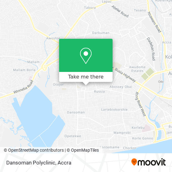 Dansoman Polyclinic map