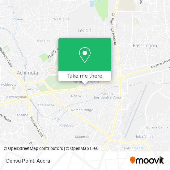 Densu Point map