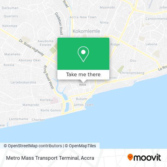 Metro Mass Transport Terminal map