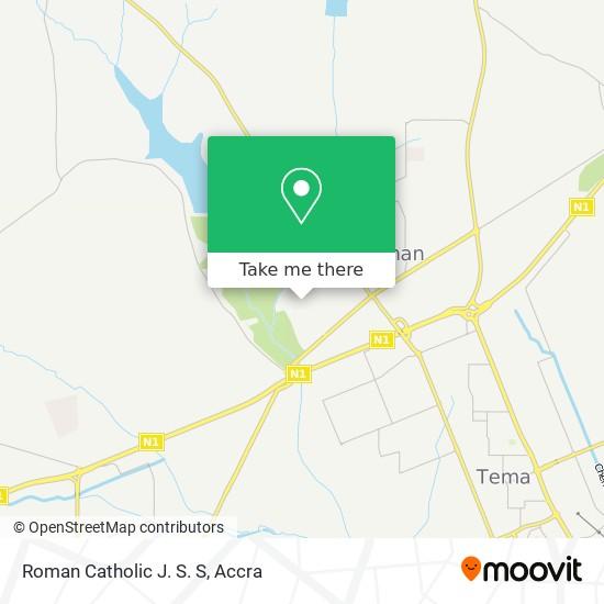 Roman Catholic J. S. S map