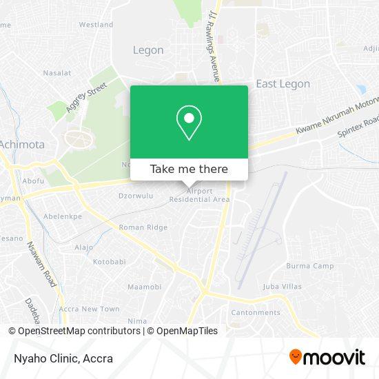 Nyaho Clinic map