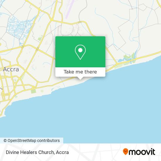 Divine Healers Church map