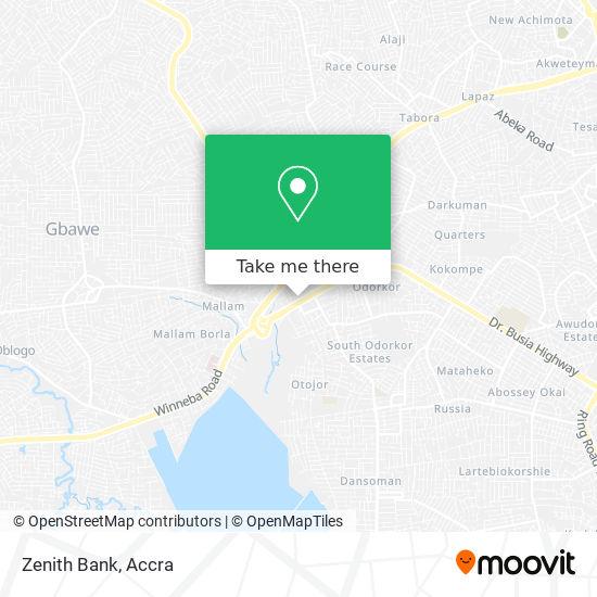 Zenith Bank map