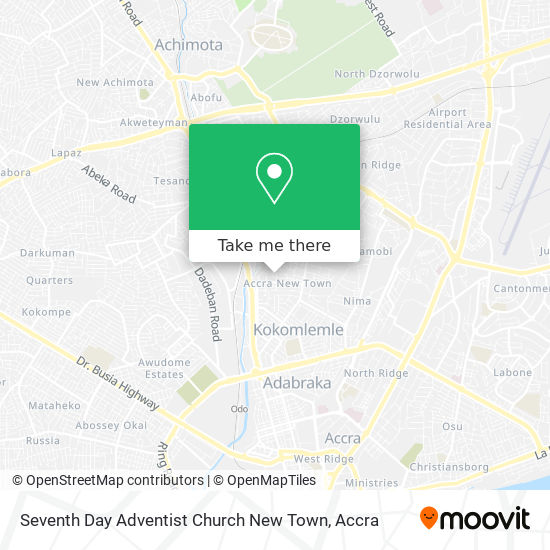 Seventh Day Adventist Church New Town map