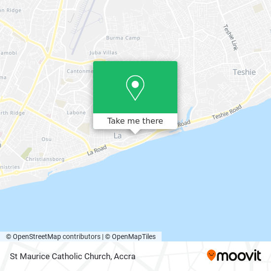 St Maurice Catholic Church map