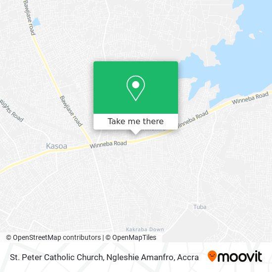 St Peter Catholic Church, Ngleshie Amanfro map