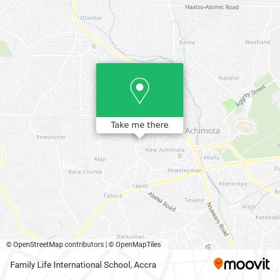 Family Life International School map
