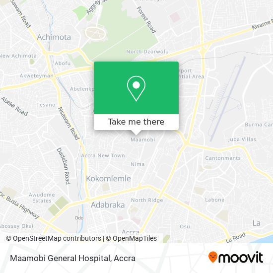 Maamobi General Hospital map