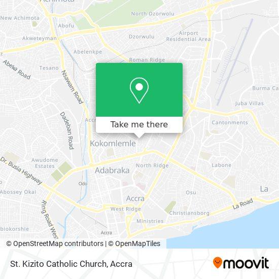 St. Kitzito Catholic Church Nima map