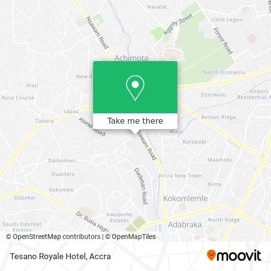 Tesano Royale Hotel map