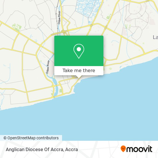 Anglican Diocese Of Accra map