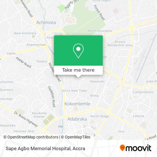 Sape Agbo Memorial Hospital map