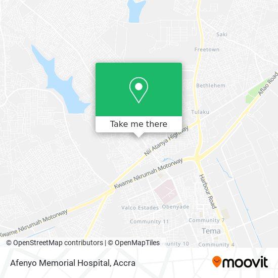 Afenyo Memorial Hospital map